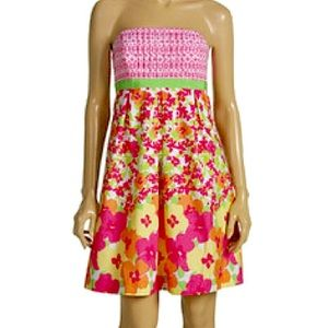 Lilly Pulitzer Betsey strapless cotton dress